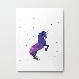 galaxy unicorn Metal Print