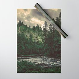Pacific Northwest River - Nature Photography Wrapping Paper