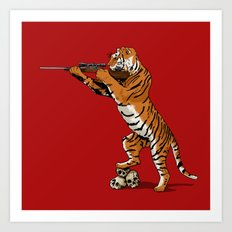 The Hunted becomes the Hunter Art Print