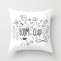 charli xcx Throw Pillows featuring BOOM CLAP by Wis Marvin