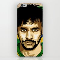 neymar iPhone & iPod Skins featuring Neymar Junior by King Arnanda