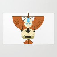 airbender Area & Throw Rugs featuring Yip Yip by Ashley Hay