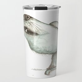 NORDIC ANIMAL - WOLFGANG THE WOLF / ORIGINAL DANISH DESIGN bykazandholly  Travel Mug