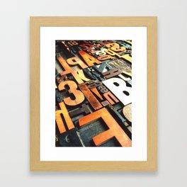 3B - Typography Photography™ Framed Art Print