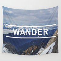 wander Wall Tapestries featuring Wander by Monica Brennan