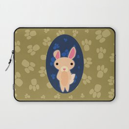 Rabbit with Paw Print Laptop Sleeve