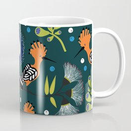 Hoopoe, bird pattern design Coffee Mug