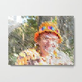 Pixel Art Portrait 2 Metal Print