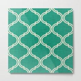 Ogee pattern Green  Metal Print