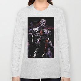 Kyle Reese Revenge Aliens Terminator 80s synthwave Long Sleeve T-shirt