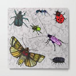 Beautiful Bright Bugs Metal Print