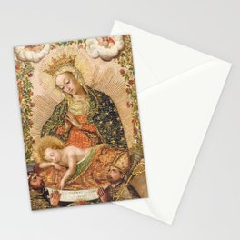 The Virgin Adoring the Christ Child with Two Saints Stationery Cards