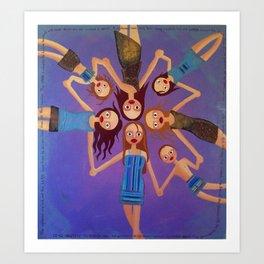 friends and kids Art Print