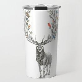 Winter Solstice Caribou Travel Mug