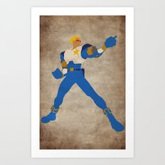 Commanding Captain (Captain Commando) Art Print