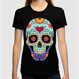Pixel art Sugar Skull T-shirt