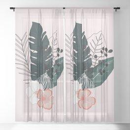 Tropical Bouquet Sheer Curtain