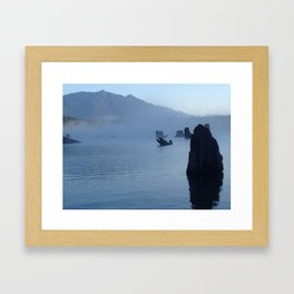 """Root jumps out of water like an open mouthed fish.""  Nature Series #1. Framed Art Print"
