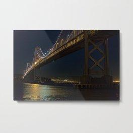 Bay bridge at night Metal Print