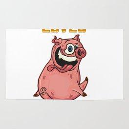 Cute Every Butt Loves a Good Rub Funny Pig BBQ Rug