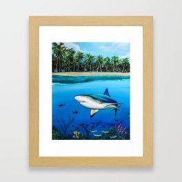 Palm Tree Reef Framed Art Print