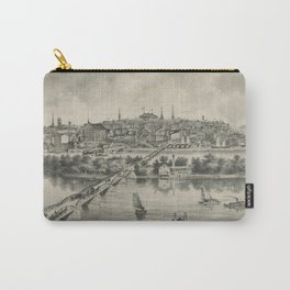 Vintage Pictorial Map of Richmond VA (1876) Carry-All Pouch