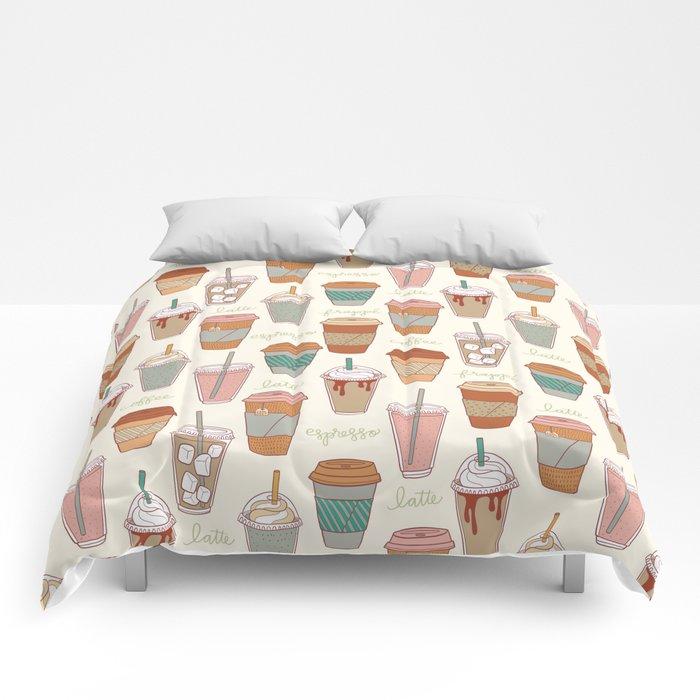 Latte Love Comforters
