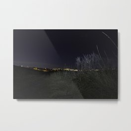 Nose Hill Park at night Calgary Metal Print