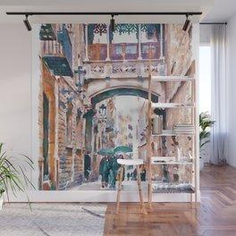 Carrer del Bisbe - Barcelona Wall Mural