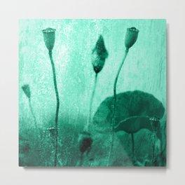 Poppy Art Image Metal Print