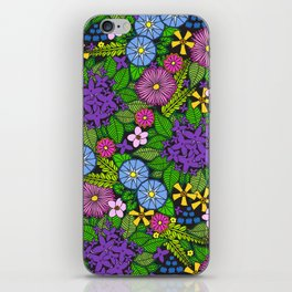 Wild Wallflowers (Color) iPhone Skin
