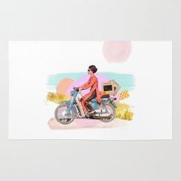 Girl Powered Moped Rug