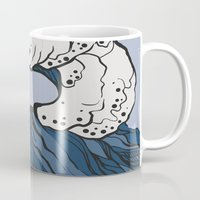 anxiety Mugs featuring Anxiety by Ksenia Palfy