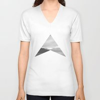 west coast V-neck T-shirts featuring west coast by Martin Evans