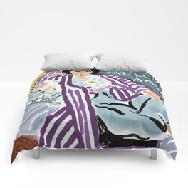 Keep calm and love Matisse Comforters