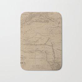 Map Of Africa 1816 Bath Mat
