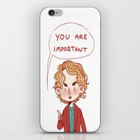 enjolras iPhone & iPod Skins featuring Enjolras Reminder by Antisepticbandaid