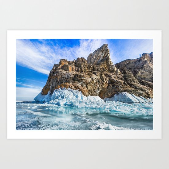 Sleeping dragon. Lake Baikal, island Olkhon Art Print