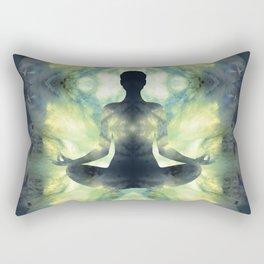 Yoga Asana  in Translucent Agate Rectangular Pillow