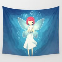 tooth Wall Tapestries featuring Tooth Fairy by Freeminds