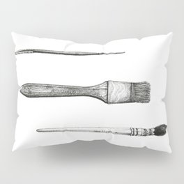 Retired Watercolor Brushes Pillow Sham