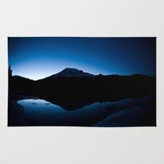 Mt Rainier @ Sunset Rug