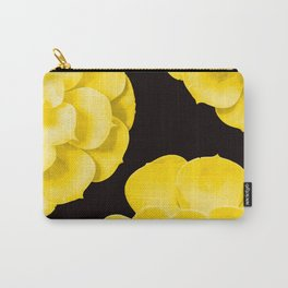 Large Yellow Succulent On Black Background #decor #society6 #buyart Carry-All Pouch
