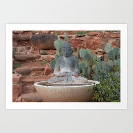 Buddha in the Mid-West Art Print