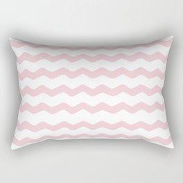 Pink Zig Zag Pattern Rectangular Pillow