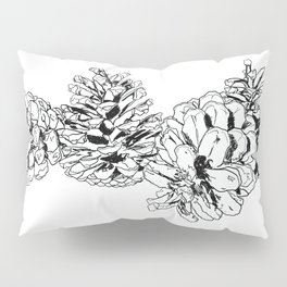 White Pine Cones Pillow Sham