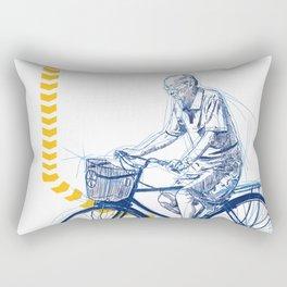 Running Late Rectangular Pillow