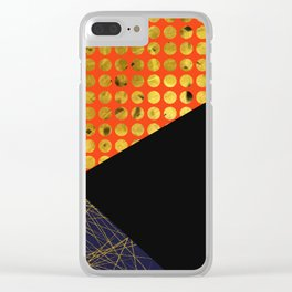 Texture Triangles Clear iPhone Case