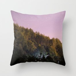 Daynight woodland activities Throw Pillow