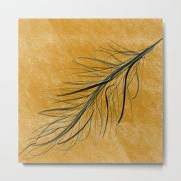 Fall feather Metal Print